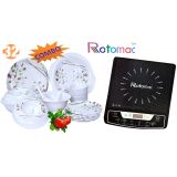Combo Of Rotomac Induction Cooker Melamine Tableware 32 Pcs Dinner Set