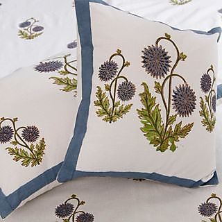 Cotton Bedsheet with sunflower Block Print with Cusion Covers & Pillow Covers