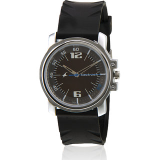 Fastrack Ne3039Sp02-D329 Black/White Analog Watch
