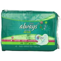 Always Fresh Ultra Thin Long/Super Pads With Wings 40 Count (Pack Of 2)