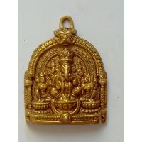 UNIQUE HAND CRAFTED BRASS STATUE/HANGING OF LORD GANESHA WITH RIDDHI-SIDDHI