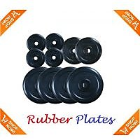 Welkin 30 KG SPARE RUBBER WEIGHT PLATES WITH BUSH