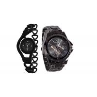 BLACK CHAIN + BLACK ROSARA SIGNATURE DESIGN COMBO WATCH by 7 star