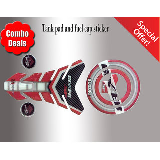 COMBO Suzuki Gixxer Customize Vinyl Tank Pad fuel cap Sticker