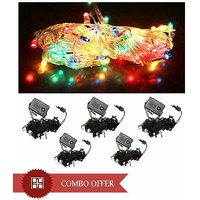 60 Serial Bulb Rice Lights For Diwali-Navratra-Christmas Decoration Pack Of 5