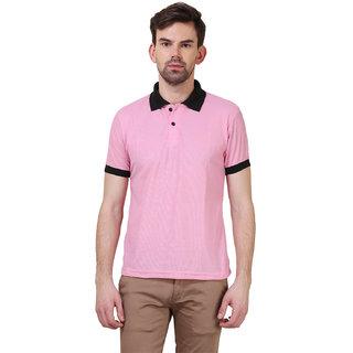 X-CROSS Men's striped polo t-shirt (XCR-PTS-BLKPNK-1)
