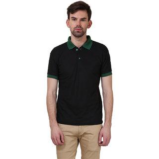 X-CROSS Men's striped polo t-shirt (XCR-PTS-DRKGRNBLK-7)