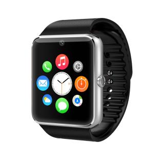 GT08 TOUCH SCREEN SIM CARD SMART WATCH PHONE-SILVER