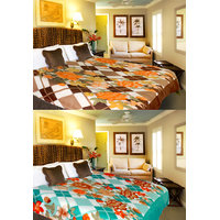 ILiv Combo Of Single & Double Bed Blanket