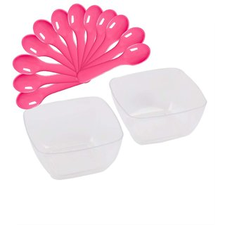 Ezee Party combo of Mousse Cup + Ice cream spoon