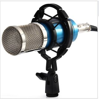 Aeoss Condenser Microphone Mic For Studio Broadcasting And Recording With Shock Mount Xlr Cable And Pop Filter 3.5Mm