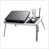 Smiledrive - HIGH QUALITY FOLDABLE LAPTOP TABLE WITH 2 USB COOLING FANS
