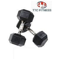 TTC FITNESS HEXAGONAL DUMBELL 30KG (15 KG EACH)