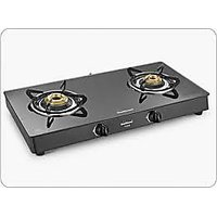 Sunflame Crystal Glass Top (Toughened Glass) 2 Burner BK Gas Stove
