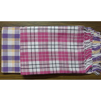 COTTON TOWELS--a Set Of Two South Indian Towels Size 30 X 60 - 5302246