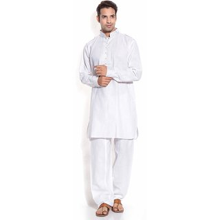 TwoPeople India White Pathani Suit
