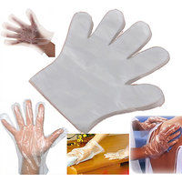 100 Pcs Disposable Plastic Gloves For Home / Restaurant / Cleaning / Washing!