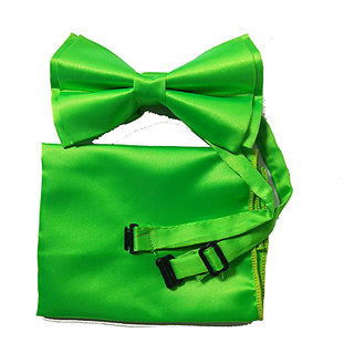 New Design Green Bow Tie Set With Adjustable Neck Size