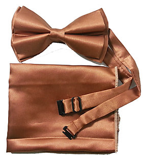 New Design Copper Bow Tie Set With Adjustable Neck Size