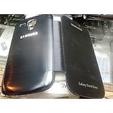 Samsung Galaxy Trend Duos (S7562) Flip Cover Case Pouch With Shining Metallic Back Finish - Black