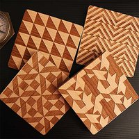 Pythagorean Engraved Wooden Coasters (Set Of 4)