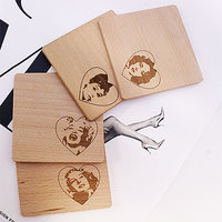 Sex Symbols Of Yore Wooden Coasters (Set Of 4)