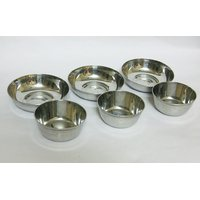 Stainless Steel Bowls And Dish Plates Set Of 6 Pieces