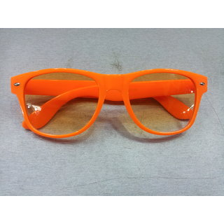 Hot Orange Wayfarer Cute, Sexy Sunglasses Neon Pink Clear