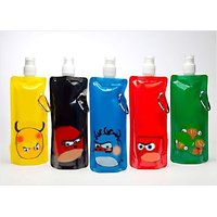 Trendy Fancy Foldable Reusable Water Bottle (Set Of 5)