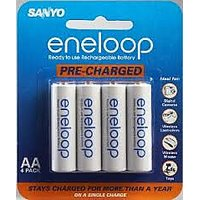 Sanyo Eneloop AA 2000 MAh Pre-Charged Rechargeable Batteries - 4 Pack