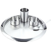 Magpie 5 Pc Thali Set With 2 Minibowls ,1 Tumbler 1 Spoon And 1 Thali