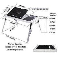 LE-Table With 5 Usb Port And 2 Fans With Adjustable Height And Lock Push Button