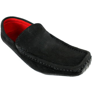 JerryMouse.in Mens Black Leather Loafers - MCAS0045