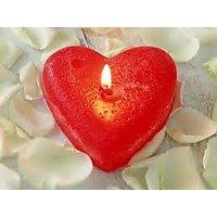 Decorative Heart Shape Candles (Set of 4)