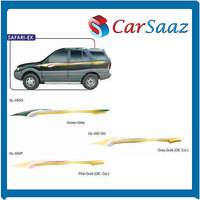 Car GRAPHICS/DECALS (GL–050 G, GL-050 P, GL-050 GG) For TATA SAFARI-EX