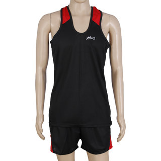 RetailWorld Atheletic Wear Kit Black/Red (Sando + Shorts)