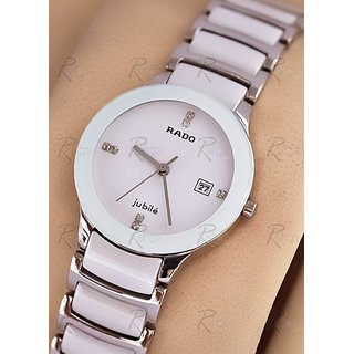 New Rado Jubile Watch White Ceramic For Men Replica  FREE Home Delivery