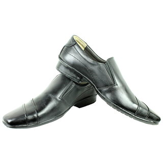 JerryMouse.in Mens Black Leather Formal Shoe - MFOR0053