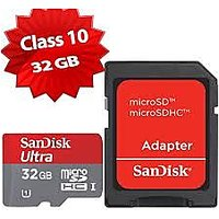 SanDisk Ultra 32GB Class 10 Memory Card With SD Adapter