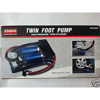 Original 100% Coido Foot Air Pump Compressor 8cm Twin Cylinder For Bike Car