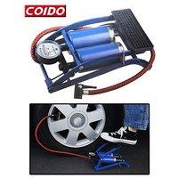 Coido Foot Air Pump Compressor 8Cm Twin Cylinder For Bike & Car