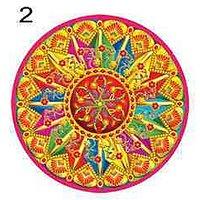 Beautiful Rangoli For Diwali In Multicolour Set Of 10