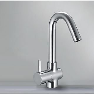 Swan Tap Type Pillar Cock Single Tap Platform Mounted Kitchen Sink Table Top