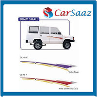 Car GRAPHICS/DECALS (GL–46 V, GL-46 R) For TATA SUMO SMALL.