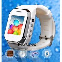 White KenXinda W1  Watch Mobile FREE Bluetooth Headset  Dual SIM