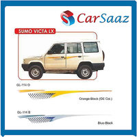 Car GRAPHICS/DECALS Car GRAPHICS/DECALS (GL–114 O, GL-114 B) For SUMOVICTA LX.