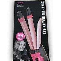 Nova Professional 2 In 1 Hair Curler Hair Straightener Nhc-1818sc - 5344876