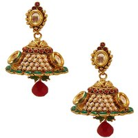 Habors Gold Zara Jhumki Earrings With Pearls
