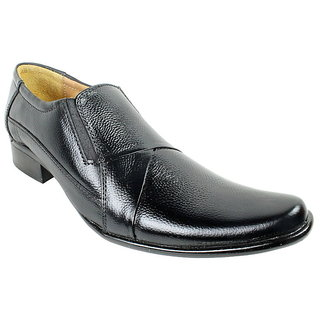 JerryMouse.in Mens Black Leather Formal Shoe - MFOR0056
