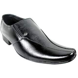 JerryMouse.in Mens Black Leather Formal Shoe - MFOR0057